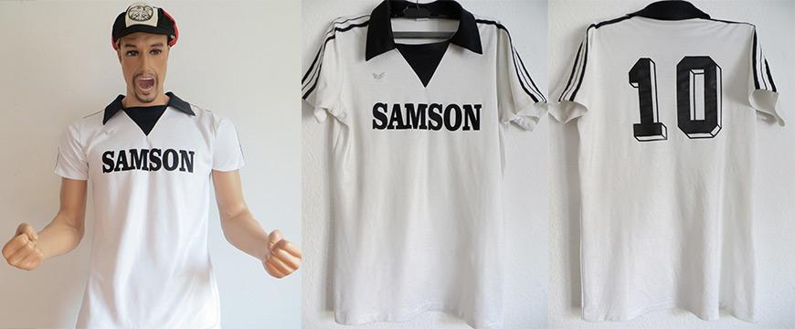 Eintracht Frankfurt Trikot Matchworn Samson 1978 Erima
