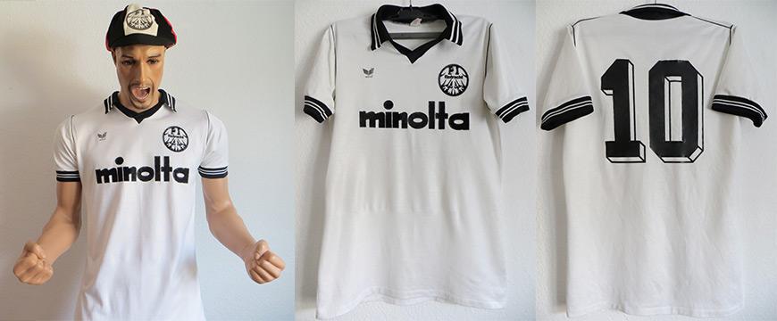 Eintracht Frankfurt Trikot Matchworn Minolta Erima 1979