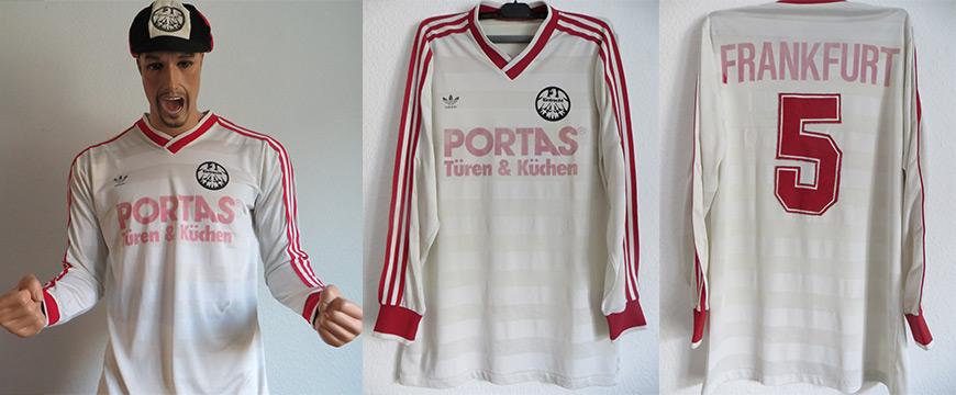 Eintracht Frankfurt Trikot Portas Weiß Adidas 1985
