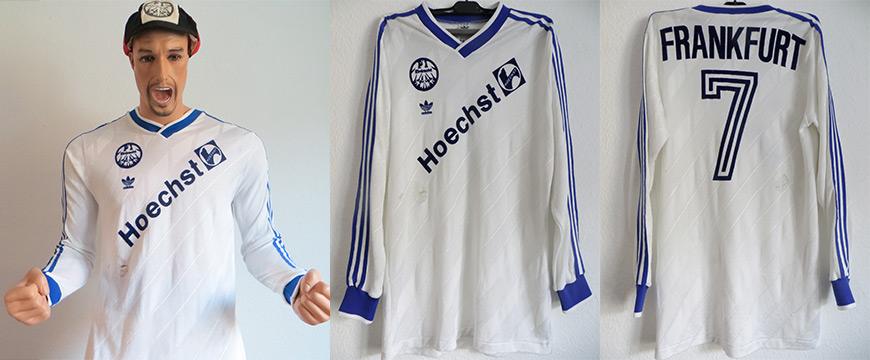 Eintracht Frankfurt Trikot Matchworn Möller Hoechst 1987
