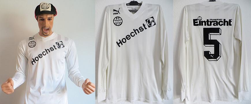 Eintracht Frankfurt Trikot Matchworn Manni Binz Hoechst 1988