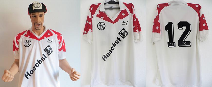 Eintracht Frankfurt Trikot Matchworn Hoechst 1989
