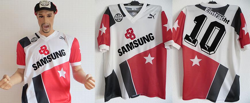 Eintracht Frankfurt Trikot Matchworn Bein Samsung 1991
