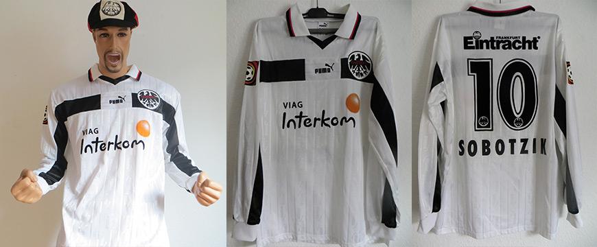 Eintracht Frankfurt Trikot Matchworn Sobozik 1999