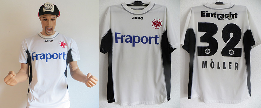 Eintracht Frankfurt Trikot Matchworn Möller 2003