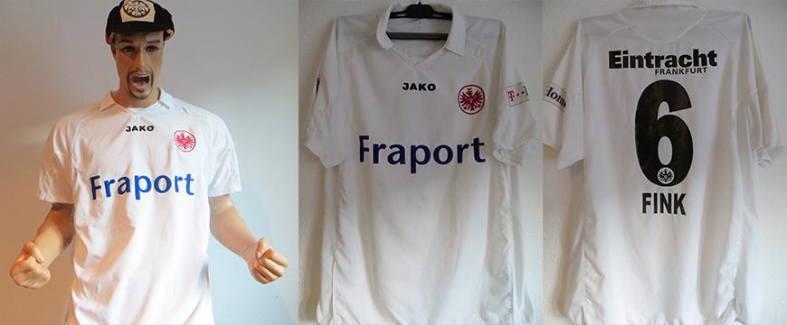 Eintracht Frankfurt Trikot Matchworn Fink 2006