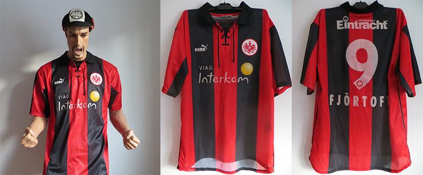 Eintracht Frankfurt Trikot Fjörtoft 1999 Matchworn