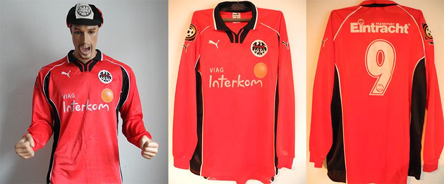 Eintracht Frankfurt Trikot Fjörtfot 2000 Matchworn