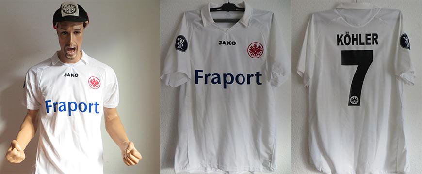 Eintracht Frankfurt Trikot Kölhler Ueraf Cup 2006 Matchworn