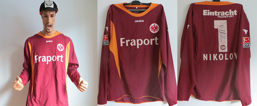 Eintracht Frankfurt Trikot Nikolov Matchworn