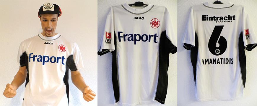 Eintracht Frankfurt Trikot Amanatidis 2006 Matchworn