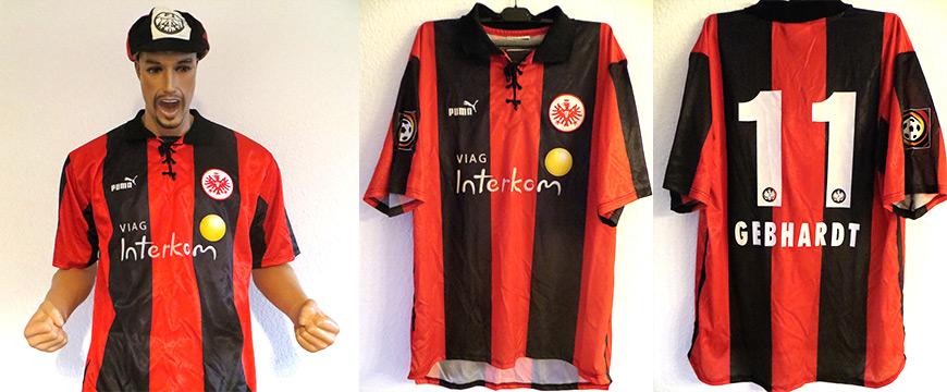 Eintracht Frankfurt Trikot Gebhardt 1999 Matchworn