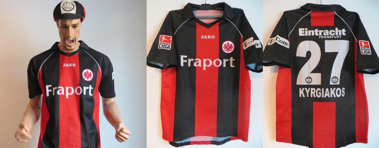 Eintracht Frankfurt Trikot Kyrigiakos Matchworn