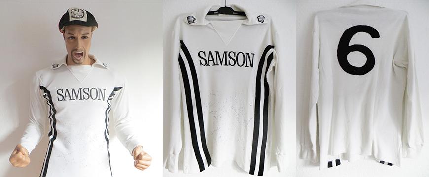 Eintracht Frankfurt Trikot Samson Hölzenbein Admiral Matchworn