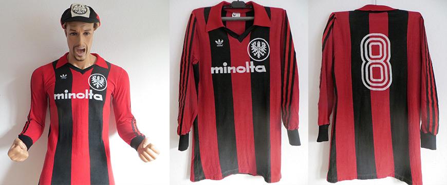Eintracht Frankfurt Trikot Hölzenbein 1979 Minolta Matchworn