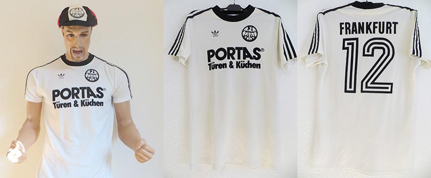Eintracht Frankfurt Trikot Portas Puma 1984 Matchworn