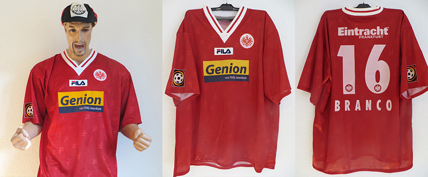 Eintracht Frankfurt Trikot 2000 Genion Branco Matchworn