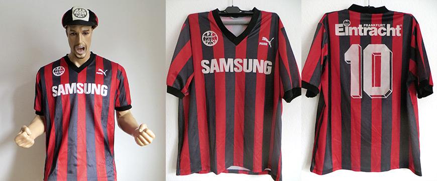 Eintracht Frankfurt Trikot Uwe Bein 1991 Samsung Matchworn