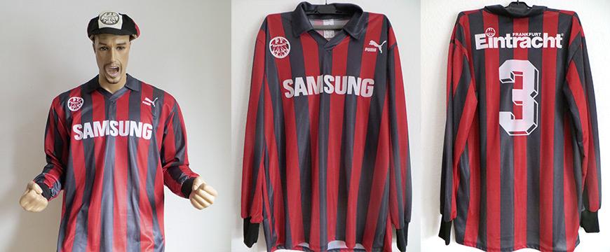 Eintracht Frankfurt Trikot Studer Samsung 1991 Matchworn
