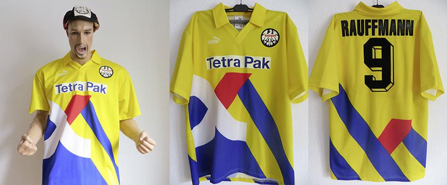 Eintracht Frankfurt Trikot Tetra Pak 1993 Rauffmann Matchworn