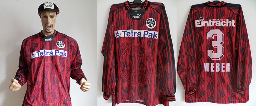 Eintracht Frankfurt Trikot Weber Tetra Pak 2016 Matchworn