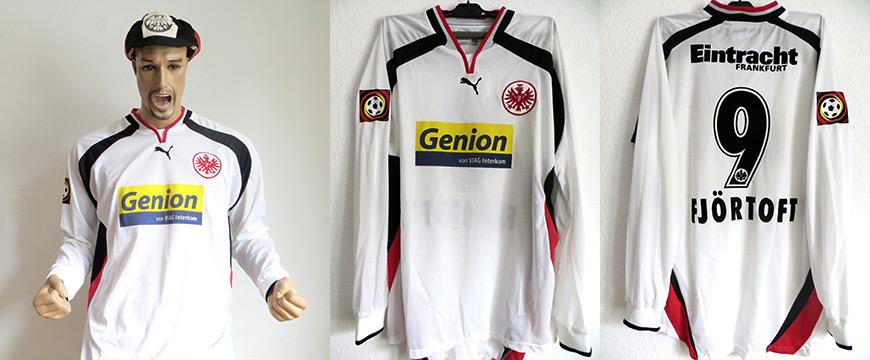 Eintracht Frankfurt Trikot Fjörtoft 2000 Matchworn