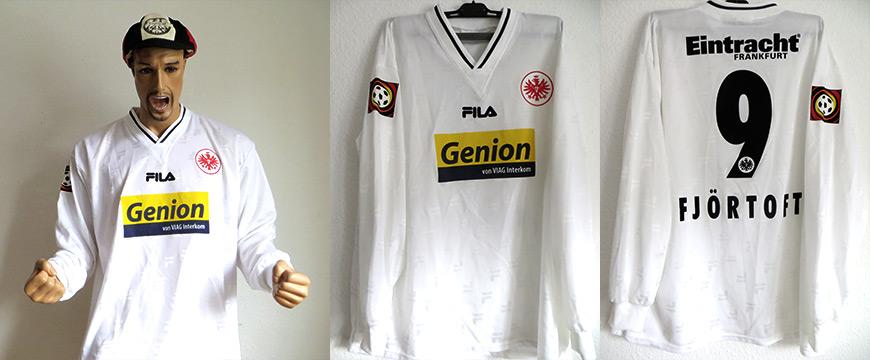 Eintracht Frankfurt Trikot Fjörtoft 2001 Matchworn