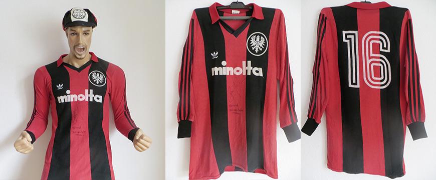 Eintracht Frankfurt Trikot 1980 Minolta Adidas