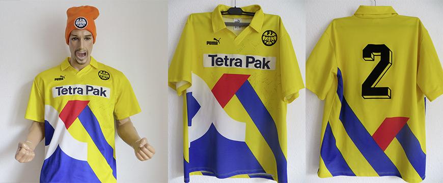 Eintracht Frankfurt Trikot 1994 Tetra Pak Bindewald Matchworn