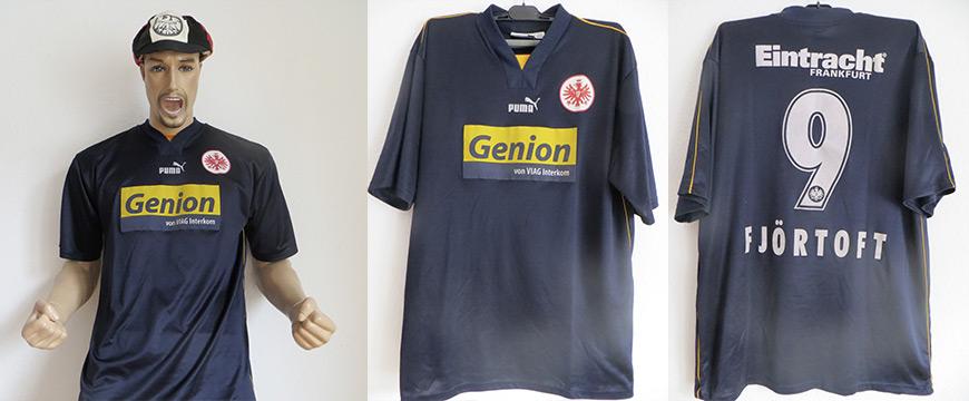 Eintracht Frankfurt Trikot 2000 Fjörtoft Matchworn Genion