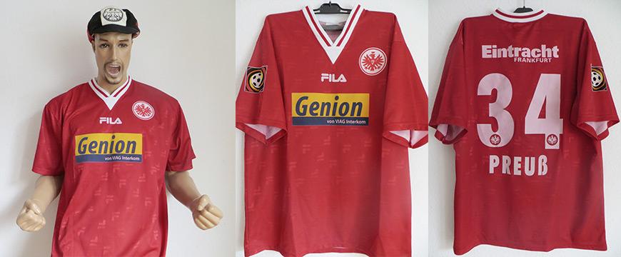 Eintracht Frankfurt Trikot 2000 Preuß Matchworn Genion