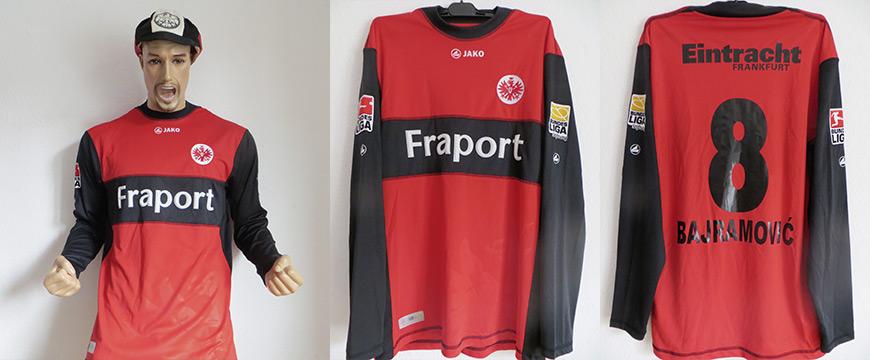 Eintracht Frankfurt Trikot Fraport 2008 Matchworn Bajramovic