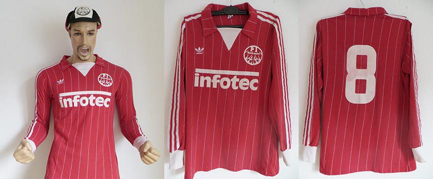Eintracht Frankfurt Trikot Matchworn Infotec 1982