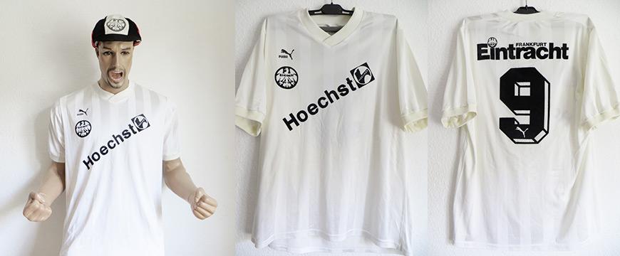 Eintracht Frankfurt Trikot Matchworn Jörn Andersen Höchst 1988