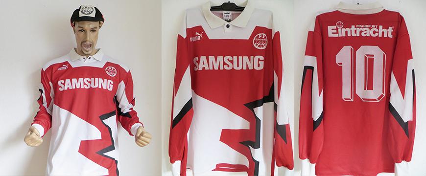 Eintracht Frankfurt Trikot Matchworn Uwe Bein 1993 Samsung