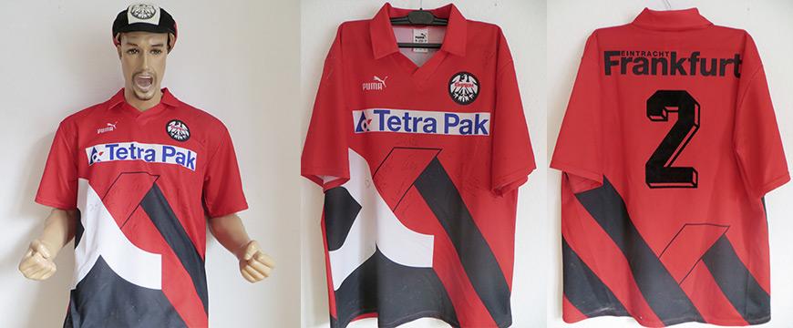 Eintracht Frankfurt Trikot Matchworn Tetra Pak 1994