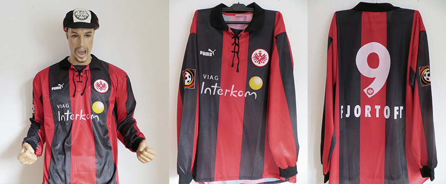 Eintracht Frankfurt Trikot Matchworn Jan Aage Fjörtoft 1999 Viag Interkom