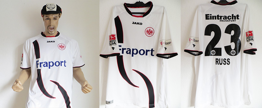 Eintracht Frankfurt Trikot Matchworn Marco Russ Fraport 2007