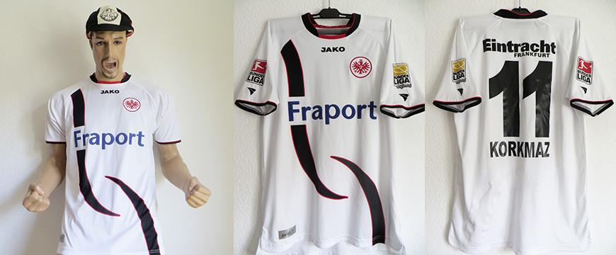 Eintracht Frankfurt Trikot Matchworn Ümit Korkmatz 2008 Fraport