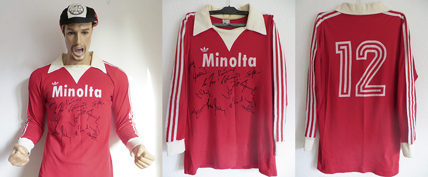 Eintracht Frankfurt Trikot Matchworn Minolta 1978