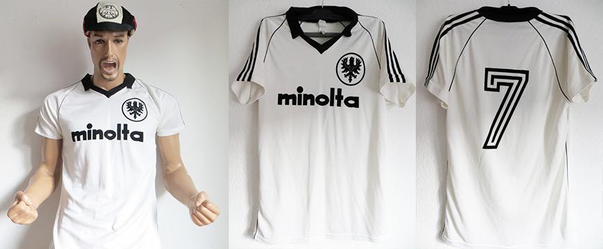 Eintracht Frankfurt Trikot Matchworn Bernd Hölzenbein Minolta 1979