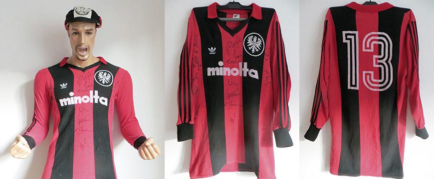 Eintracht Frankfurt Trikot Matchworn Minolta 1980