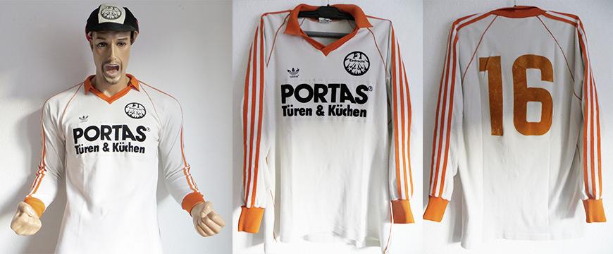 Eintracht Frankfurt Trikot Matchworn Portas 1984