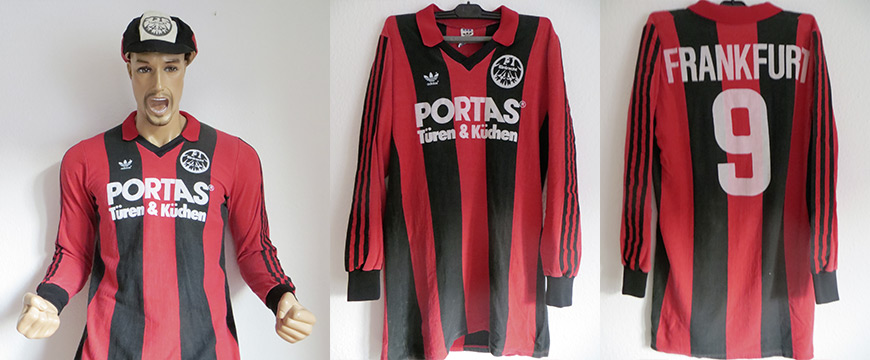 Eintracht Frankfurt Trikot Matchworn Müller Portas 1984