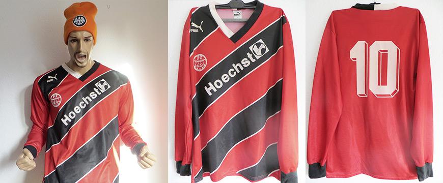 Eintracht Frankfurt Trikot Uwe Bein Matchworn Höchst 1988