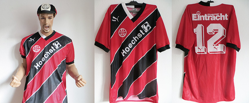 Eintracht Frankfurt Trikot Matchworn Höchst 1989