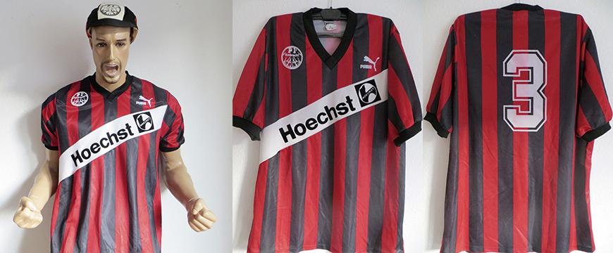 Eintracht Frankfurt Trikot Ralf Weber Matchworn 1990 Höchst
