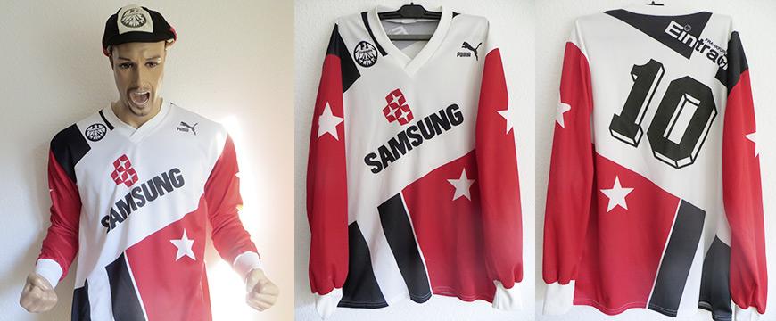 Eintracht Frankfurt Trikot Uwe Bein Matchworn Samsung 1991
