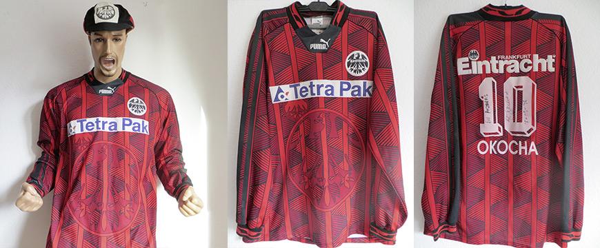 Eintracht Frankfurt Trikot Jay Jay Okocha Matchworn 1995