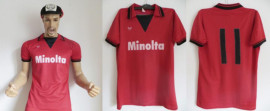 Eintracht Frankfurt Trikot Minolta 1980 Matchworn